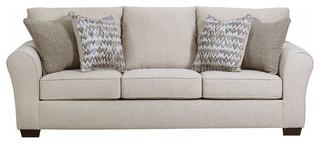 Simmons Upholstery Boston Linen Queen Sleeper