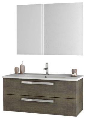 38 Gray Oak Bathroom Vanity Set.