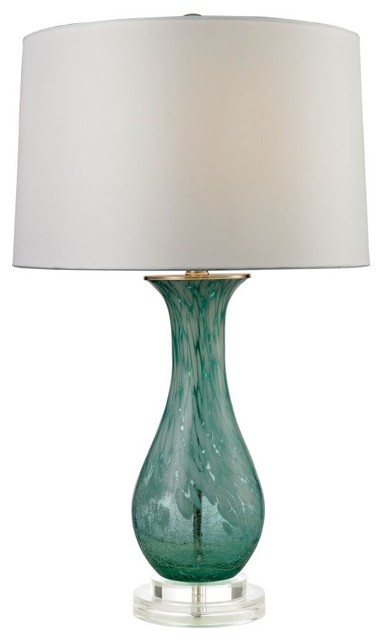 Swirl Glass Table Lamp Contemporary Table Lamps By Lighting New York