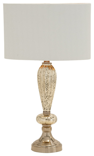 Suave and edgy glass metal table lamp traditional table lamps