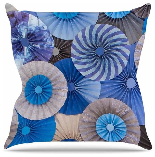 Heidi Jennings Coastline Cottage Blue Gray Throw Pillow Asian