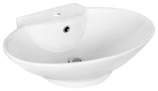 oval vessel set with single hole cupc faucet transitional bathroom sinks by posh house. Black Bedroom Furniture Sets. Home Design Ideas