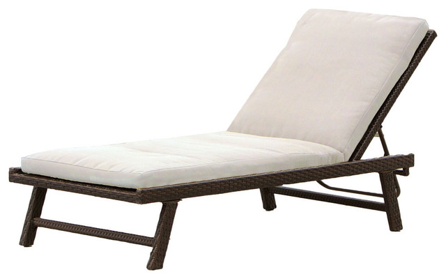 GDF Studio Florida Adjustable Chaise Lounge With Cushion