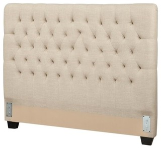 Bowery Hill Upholstered Twin Headboard, Oatmeal
