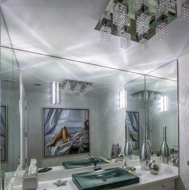 Modern Boca Raton Condo Modern Powder Room Miami