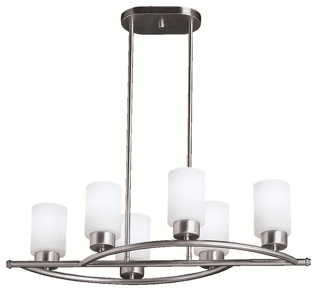 Kichler Lighting 3031ni Modena Contemporary Island Light In Brushed Nickel Chandeliers