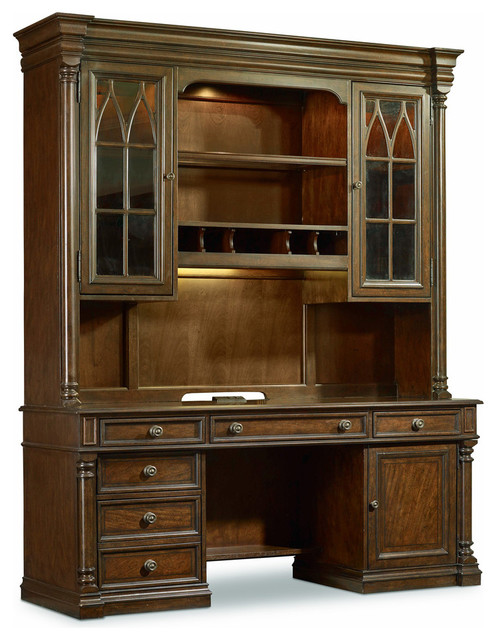 Leesburg Computer Credenza - Traditional - China Cabinets And Hutches - by Hooker Furniture