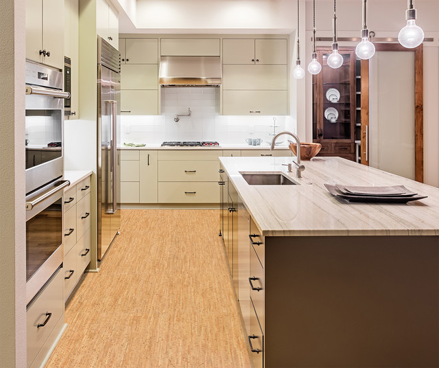 Kitchen Flooring Options Cork Modern Calgary By