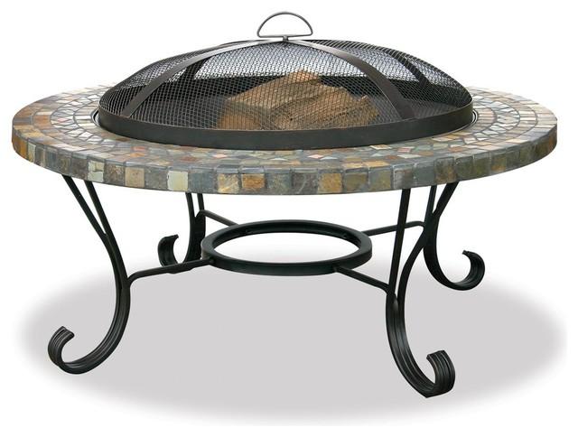 Blue Rhino Outdoor Wood Burning Fireplace - Mediterranean ...