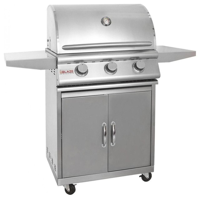 Blaze 25 Inch 3 Burner Sku Blz-3 Freestanding Bbq Grill, Fuel Type: Natural Gas.