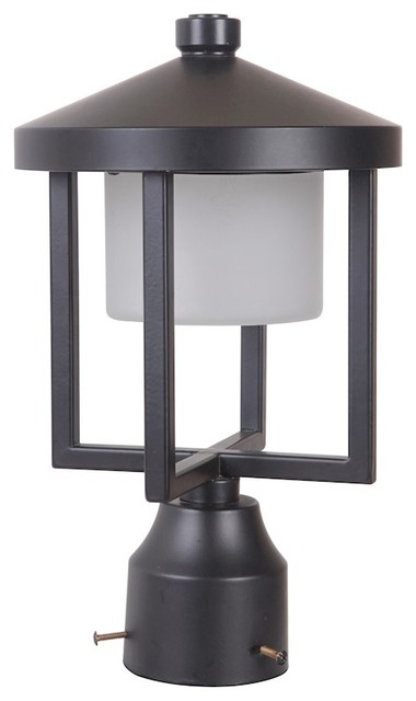 Craftmade Alta Medium Led Post Mount, Midnight, Z9215-11-Led.