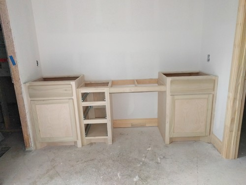 double vanity with storage tower.  Master bath double vanity Storage tower or One large mirror