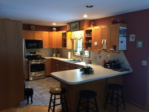 Kitchen Help I Want To Update My Kitchen Keep Cabinets Change The Rest