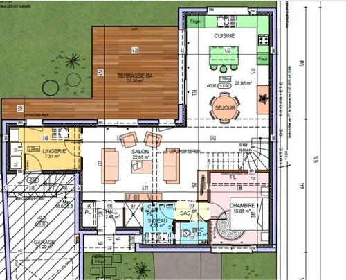 pi ce de vie en l carrelage en 60x60 ou 44x44. Black Bedroom Furniture Sets. Home Design Ideas
