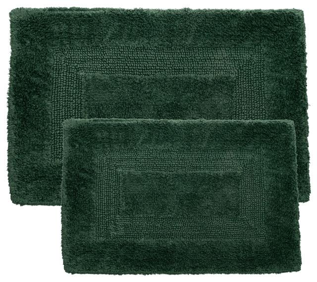 Reversible Bathroom Mats: 100% Cotton 2 Piece Reversible Rug Set By Lavish Home