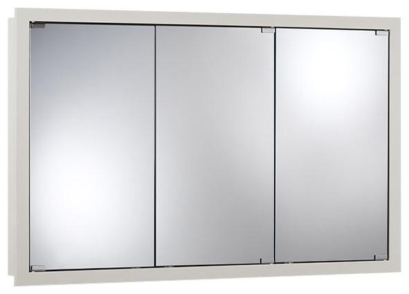 "Granville 48""x30"" Surface Mount White Medicine Cabinet - Contemporary - Medicine Cabinets - by ..."