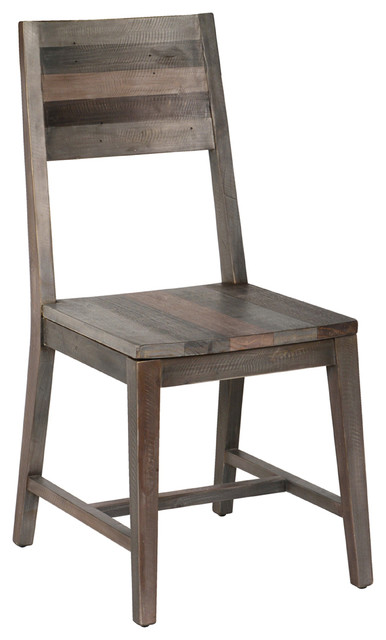 Foster Reclaimed Pine Dining Chair, Charcoal.