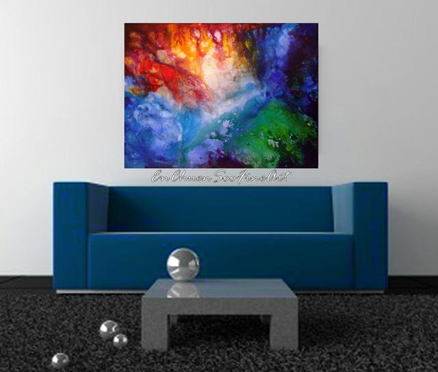 Abstract Art Custom Order for A Living Room - Modern - Artwork ...
