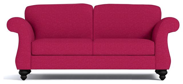"Ryandale Apartment Size Sofa, Pink Lemonade, 80""x36""x28""."