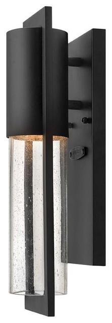 Hinkley Shelter 1-Light Black Outdoor Wall Light