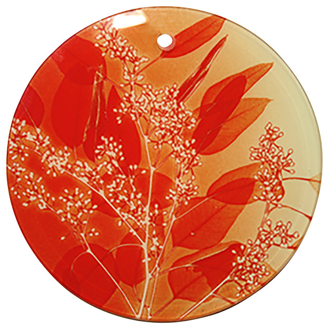 X-Ray Photograph Glass Ornament/Suncatcher with Leaves Design ...