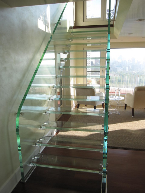 Full Glass Stair Modern Staircase Edmonton By