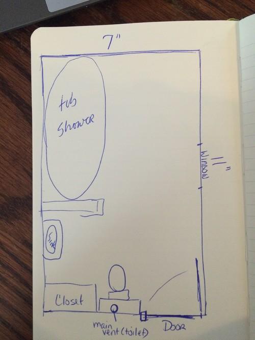 Bathroom Design 11 X 7 bathroom layout help needed - 7 x 11