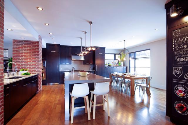 New york loft inspired kitchen for New york loft kitchen design