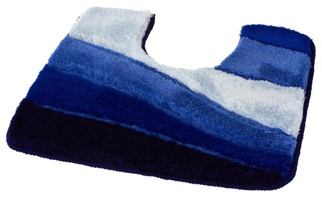 Royal Blue Non Slip Washable Bathroom Rug Ocean