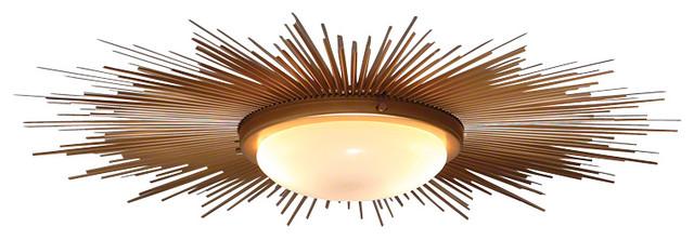 Global Views Sunburst Light Fixture
