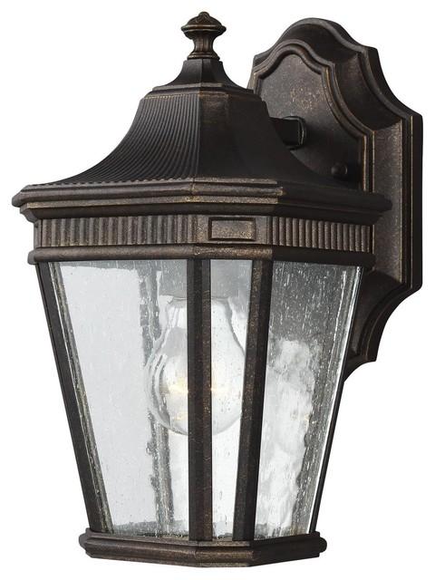 Feiss Cotswold Lane 1 Light Outdoor Wall Lantern Grecian Bronze