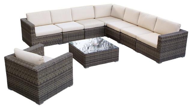GDF Studio 9 Piece Sydney Sectional Sofa Set