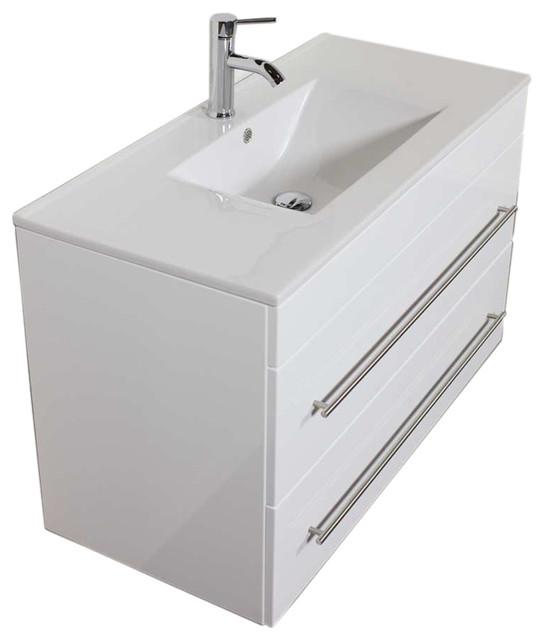 Emotion Infinity 1000 Bathroom Furniture 100 Cm White High Gloss Contemporary