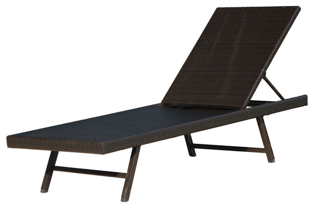 Orleans Woven Chaise Lounge Chair.