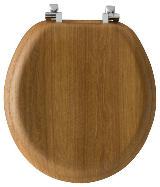 Groovy Bemis Round Wood Toilet Seat Oak Ncnpc Chair Design For Home Ncnpcorg