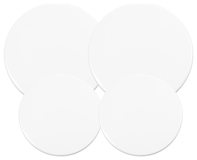 Calypso Basics, Enamel On Steel Burner Cover Set, White, Set A.