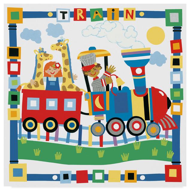 ART PRINT POSTER NURSERY COLLAGE TRAIN BUS BOAT CAR KIDS BEDROOM LFMP0830