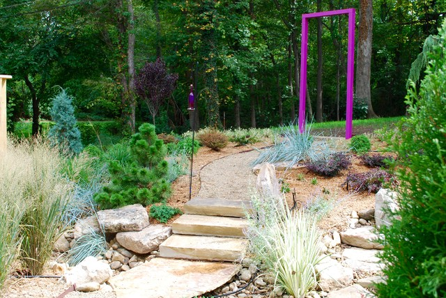 Backyard just after installation, Sept. 2015 eclectic