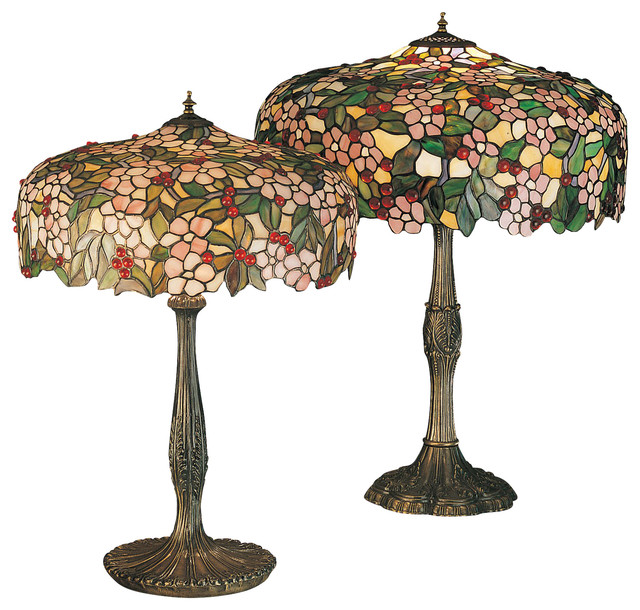 Meyda Tiffany Cherry Tree Tiffany Table Lamp X 84113 Victorian Table Lamps