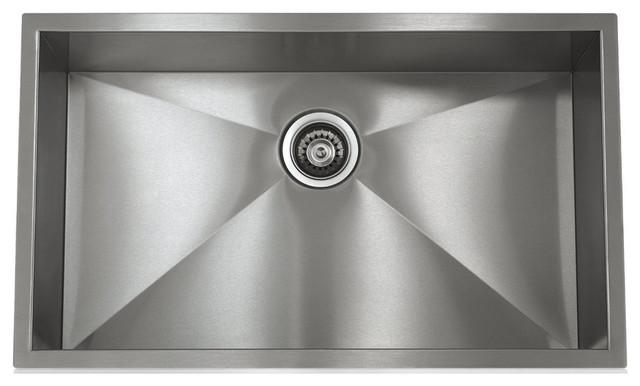 "Lenova 28"" Undermount Single Bowl 16 Gauge S.s. Kitchen Sink."