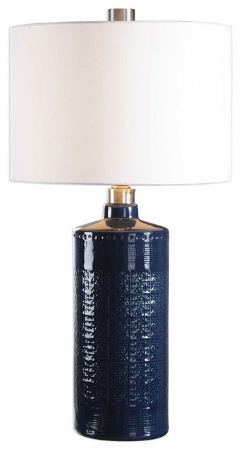 Thalia Royal Blue Table Lamp.