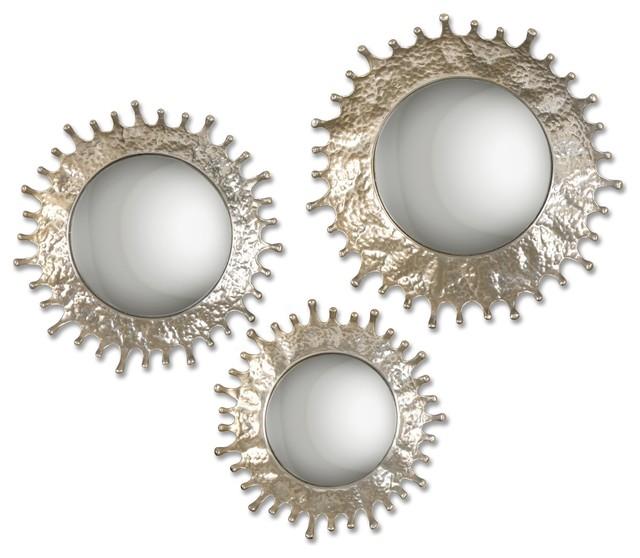 Uttermost Splash Mirrors, Set Of 3.
