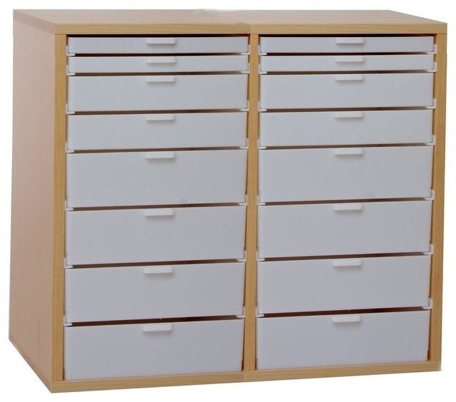 Double Wide Kit U - Contemporary - Filing Cabinets - by Best Craft Organizer