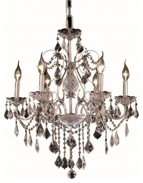 Elegant lighting st francis 24 6 light royal crystal chandelier traditional chandeliers - Traditional crystal chandeliers ...