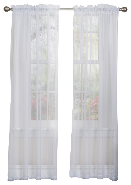 Lisa Sheer Curtain Panel 2-Pack, White.
