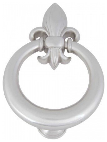 Fleur De Lis Door Knocker Brushed Nickel