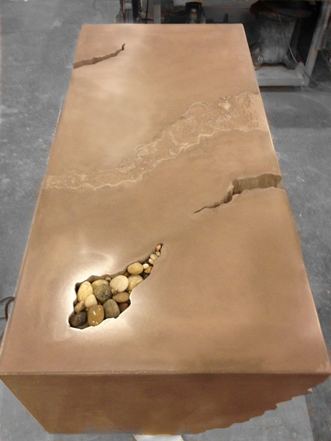 Concrete Counter Tops Contemporary Coffee Tables St Louis By