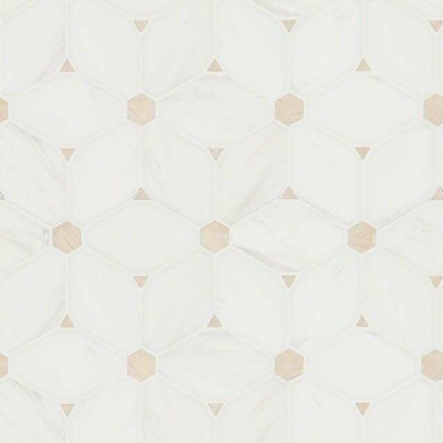Cecily Pattern Interlocking Polished Mosaic Tile, Sample