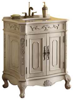victorian style bathroom cabinets verena vanity with wood wash basin antique white finish 27951