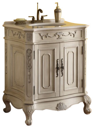 victorian style bathroom cabinets verena vanity with wood wash basin antique white finish 21212